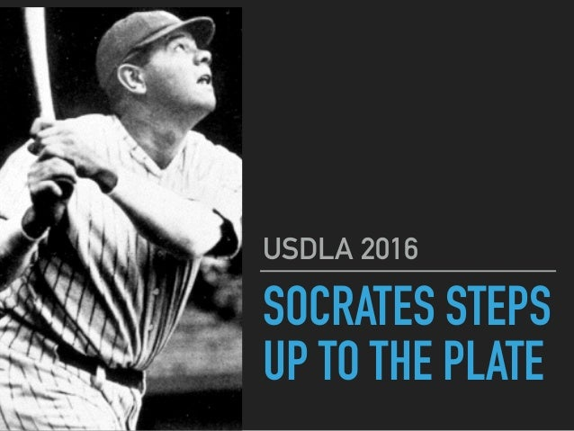 SOCRATES STEPS UP TO THE PLATE USDLA 2016