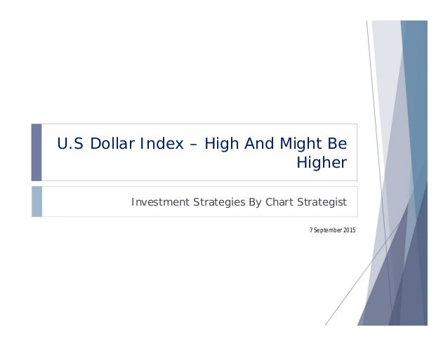 U.S Dollar Index – High And Might Be Higher Investment Strategies By Chart Strategist 7 September 2015