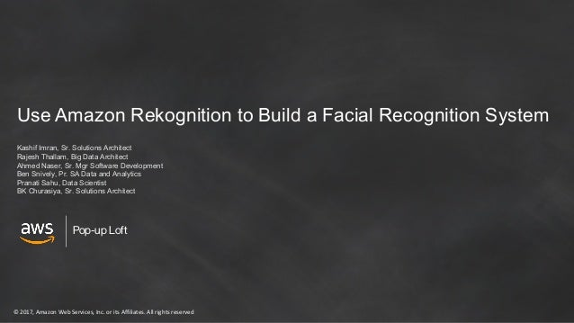 Use Amazon Rekognition to Build a Facial Recognition System