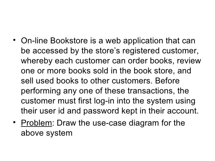 Use case diagrams case study on line bookstore 12 ccuart Choice Image