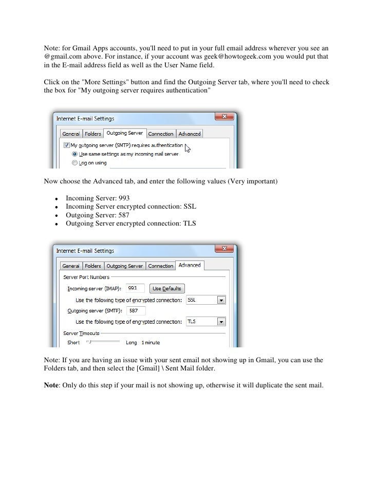 how to connect microsoft outlook 2007 to gmail