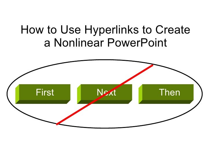 How to Use Hyperlinks to Create a Nonlinear PowerPoint First First Next Then