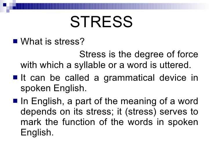 Stress (linguistics)
