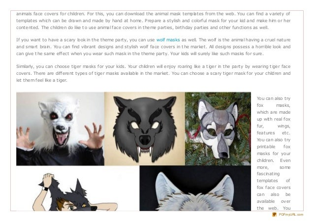 It is a photo of Fox Mask Printable with papercraft