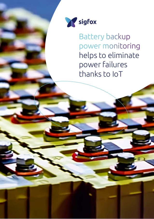 Battery backup power monitoring helps to eliminate power failures thanks to IoT