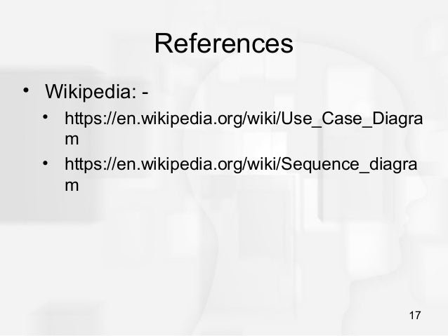 Use case diagram and sequence diagram understanding 16 17 references wikipedia ccuart Choice Image