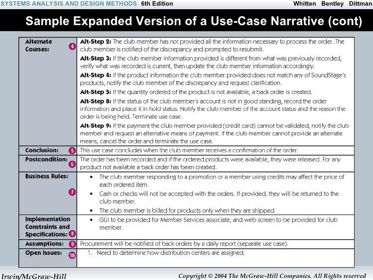 A d use case diagram for Use case narrative template doc