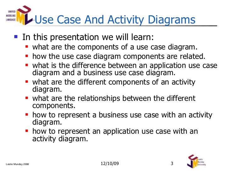 Use case and activity diagrams modeling notation use case and activity diagrams ccuart