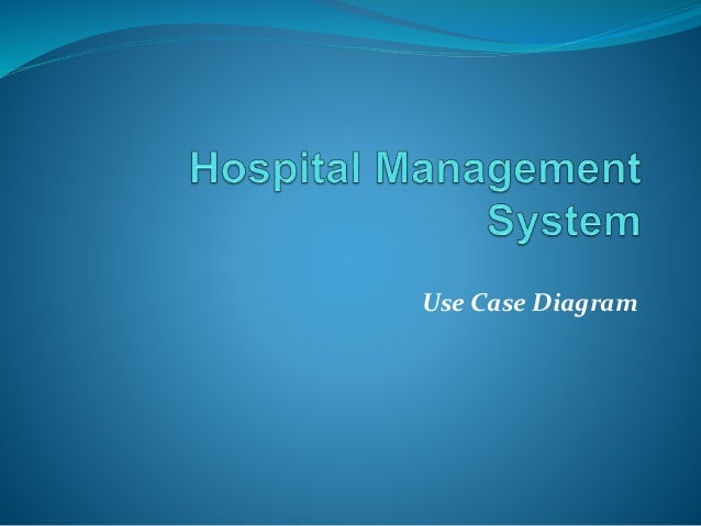 Use case of hospital managment system