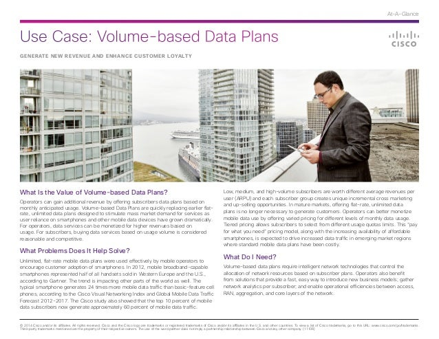 Use Case: Volume-based Data Plans © 2014 Cisco and/or its affiliates. All rights reserved. Cisco and the Cisco logo are tr...