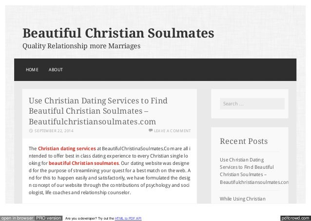 How to start a christian dating service