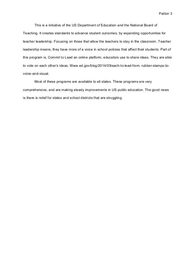 us education reform essay teach to lead 3