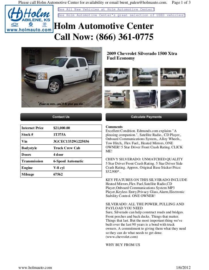 Used Chevrolet Silverado Wichita KS Holm Automotive Cente - Holm chevrolet