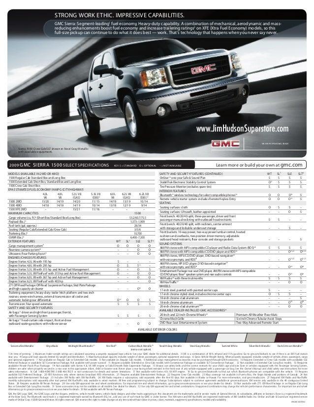 WE ARE PROFESSIONAL GRADE. ® GMC Sierra: Segment-leading1 fuel economy, Heavy-duty capability. A combination of mechanical...