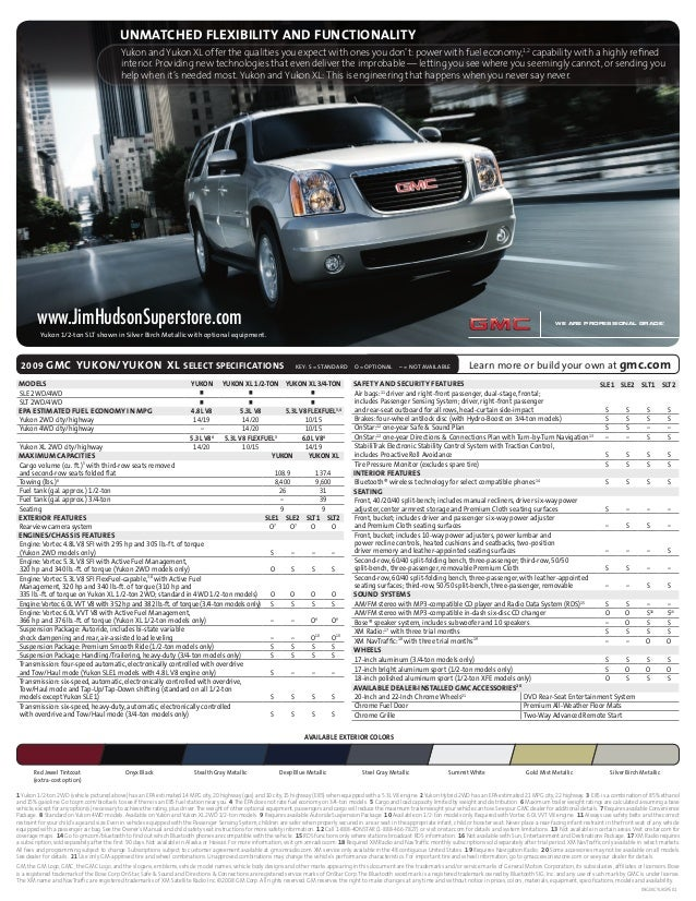 Consolidated Fulfillment Spec Sheet 08-GL-E-0055 Page 1 File Name: 2009 Yukon CD: Giordano AD: Phil Lewis CW: Eve Pickman ...