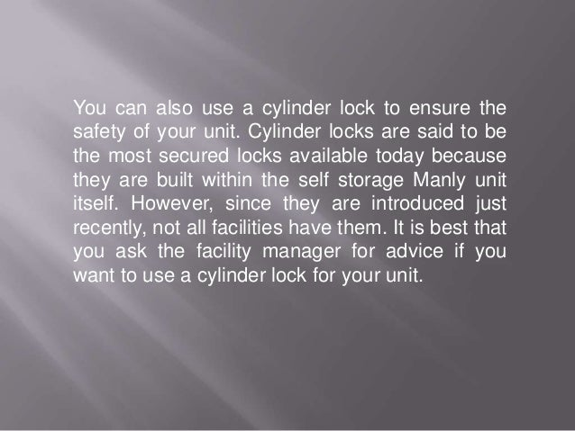 Storage 3 Types Of Recommended Locks For Your Self