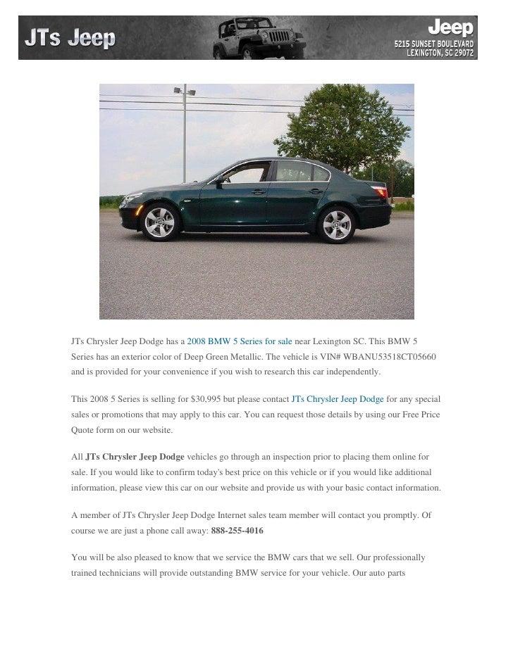 Used 2008 Bmw 5 Series for Sale near Lexington SC - 웹