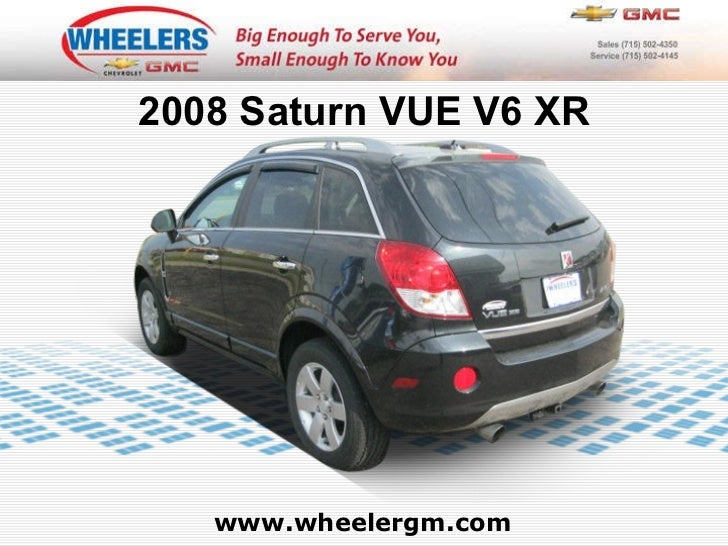 Wheelers Marshfield Wi >> Used 2008 Saturn VUE V6 XR at Marshfield, Wausau, Stevens Point, WI