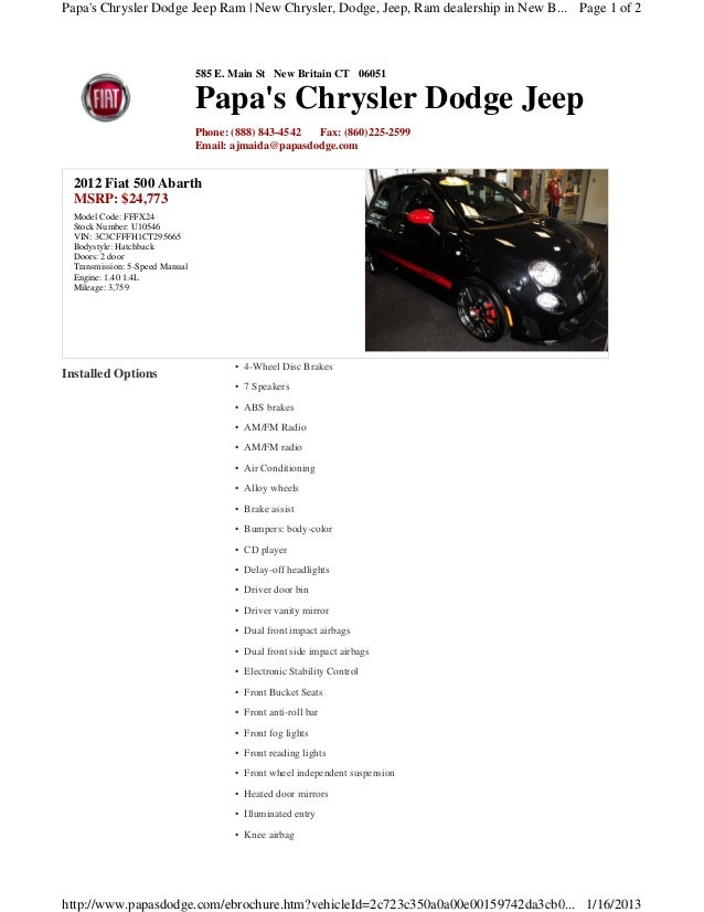 Papas Chrysler Dodge Jeep Ram   New Chrysler, Dodge, Jeep, Ram dealership in New B... Page 1 of 2                         ...
