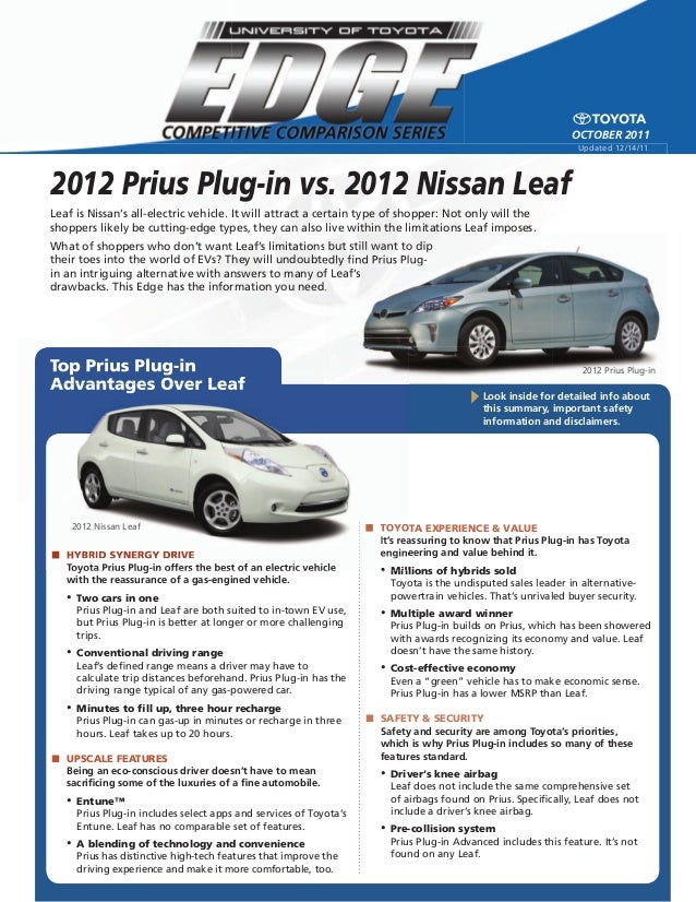 used 2012 prius plug in vs used 2012 nissan leaf north. Black Bedroom Furniture Sets. Home Design Ideas