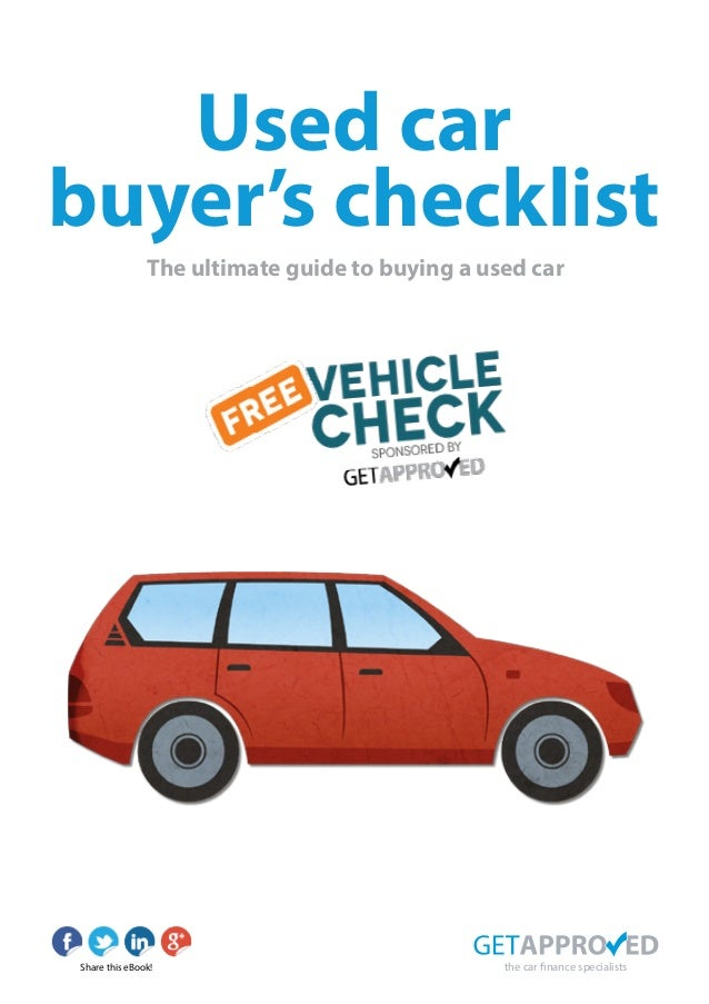 Used Car Buying Checklist >> Used Car Buyers Checklist