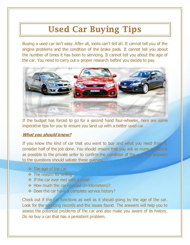 Questions To Ask When Buying A Used Car >> Used Car Buying Tips