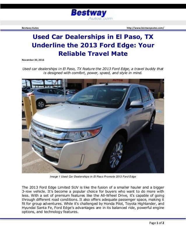 El Paso Car Dealerships >> Used Car Dealerships In El Paso Tx Underline The 2013 Ford