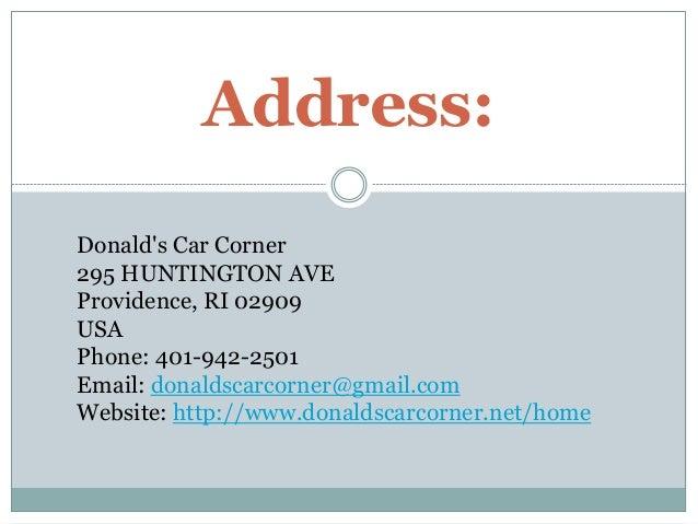 Donald S Car Corner Providence Ri