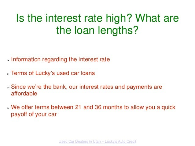 Used Car Loan Rates Utah