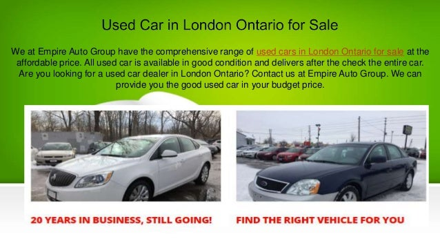 Used Car Dealers London >> Used Car In London Ontario For Sale