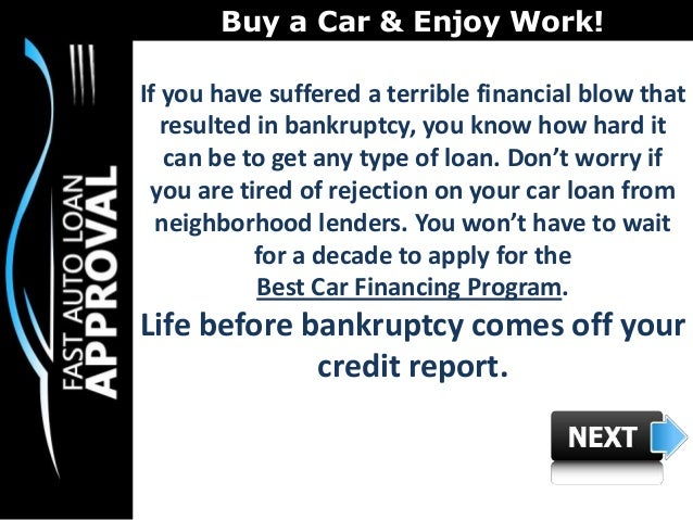 Best Car Loan Rates After Bankruptcy