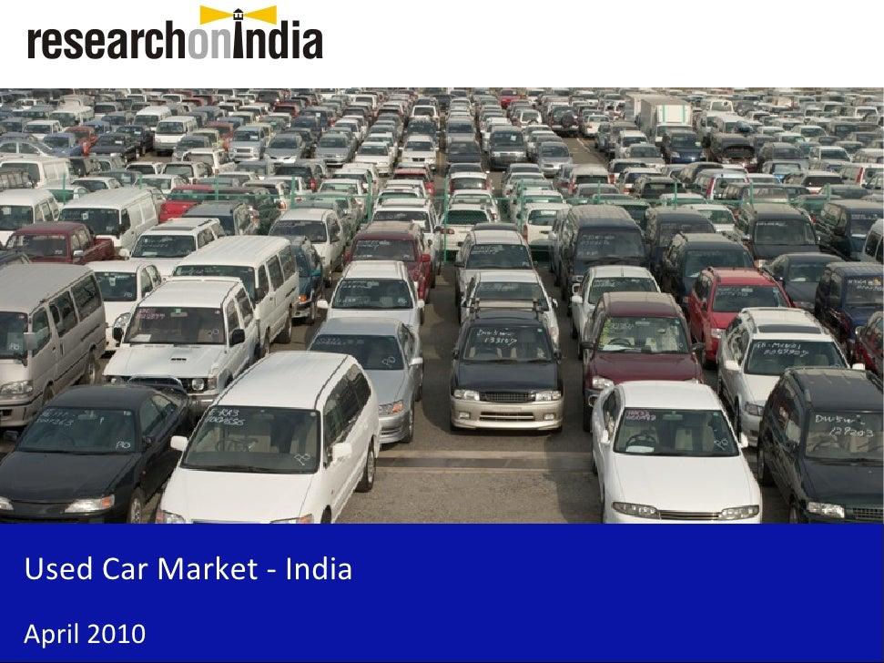 Used Car Market - India April 2010