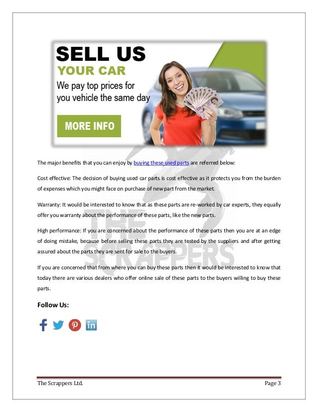 Used Car Parts: The Best Way To Cater Expense Of Buying A New Part Fo…