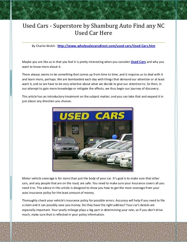 Used Cars - Superstore by Shamburg Auto Find any NC                       Used Car Here___________________________________...