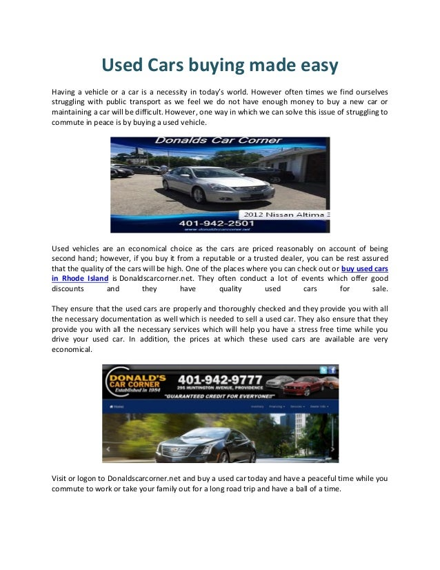 Used cars buying made easy