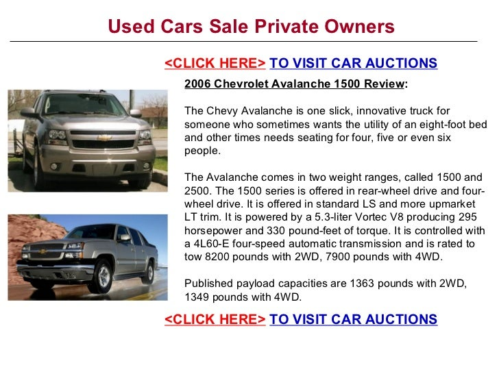 used cars sale private owners. Black Bedroom Furniture Sets. Home Design Ideas