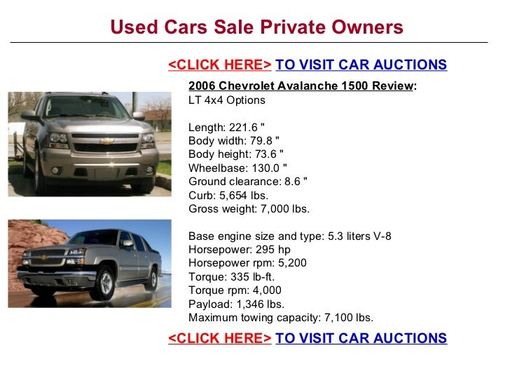 used cars sale private owners