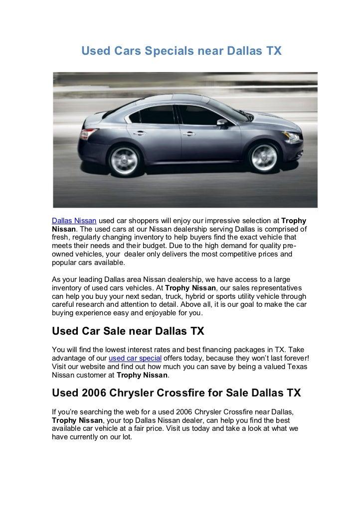 Used Cars Dallas Tx >> Used Cars Specials Near Dallas Tx