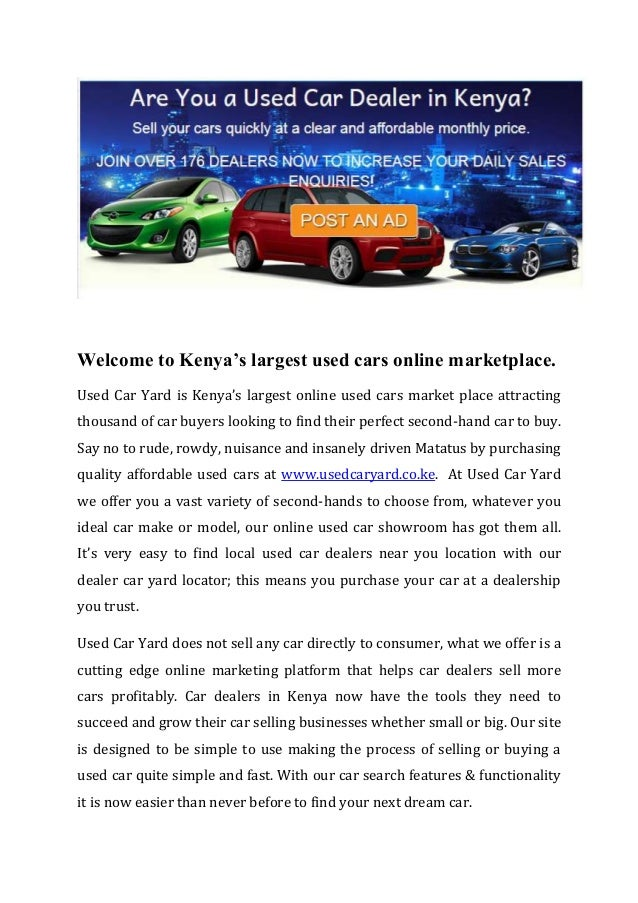 Used Car Sales In Kenya at Used Car Yard, Largest Online Used Cars …