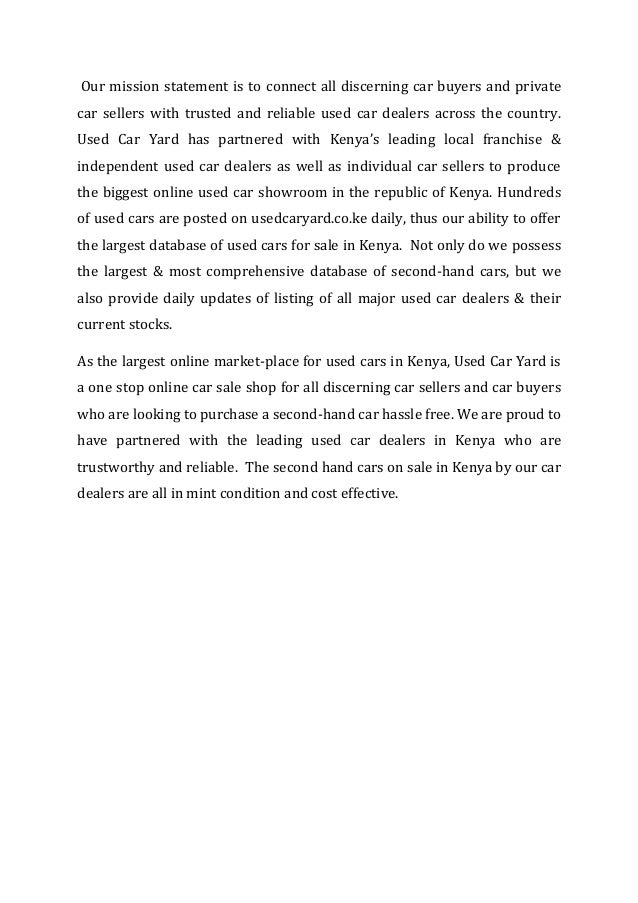 used car sales in kenya at used car yard largest online used cars