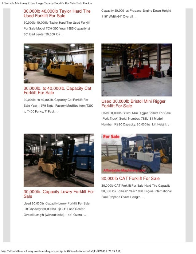Used large capacity forklifts for sale
