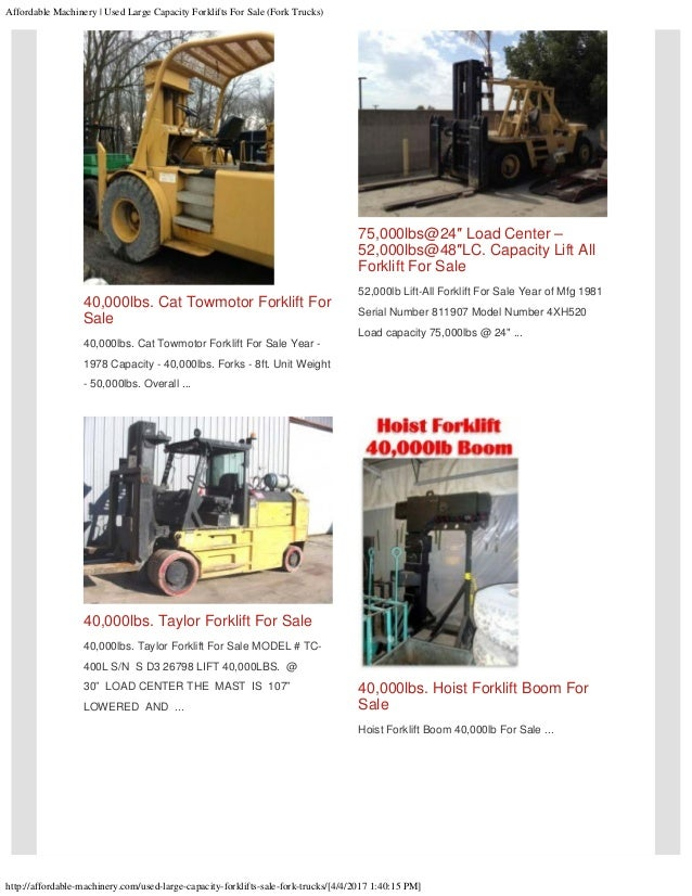 Used large capacity forklifts for sale (fork trucks)