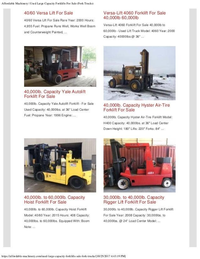 Used Large Taylor Riggers Hyster Bristol Forklifts For Sale Fork Tru