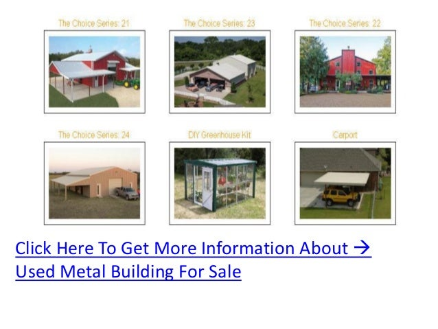 How can you find used metal buildings for sale?