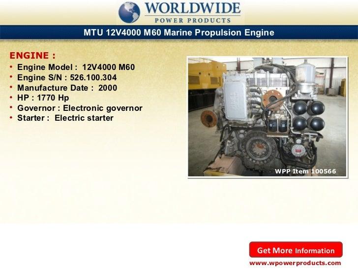 Used & New Caterpillar and MTU Marine Diesel Engines - October 2012