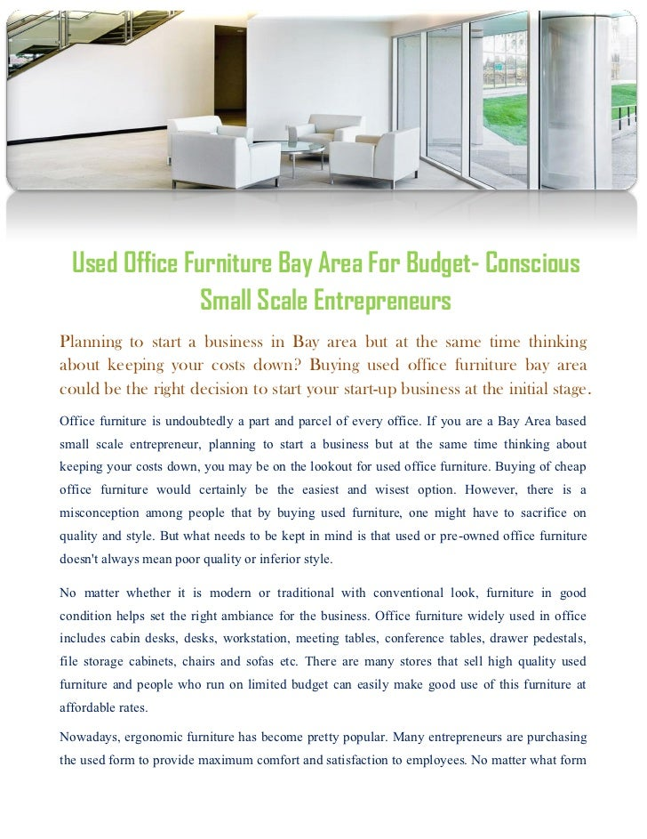 Used Office Furniture Bay Area For Budget Conscious Small Scale Entr