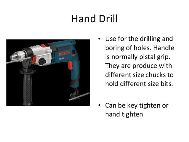 Used Of Power Hand Tools