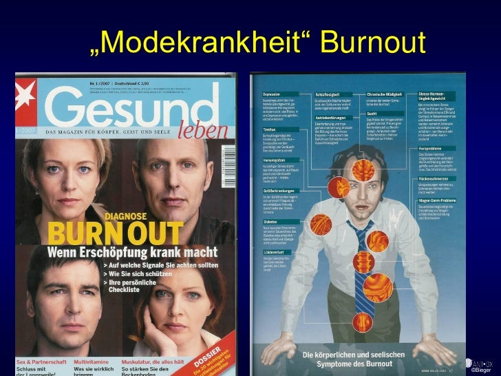 """Modekrankheit"" Burnout                               ©Bieger"