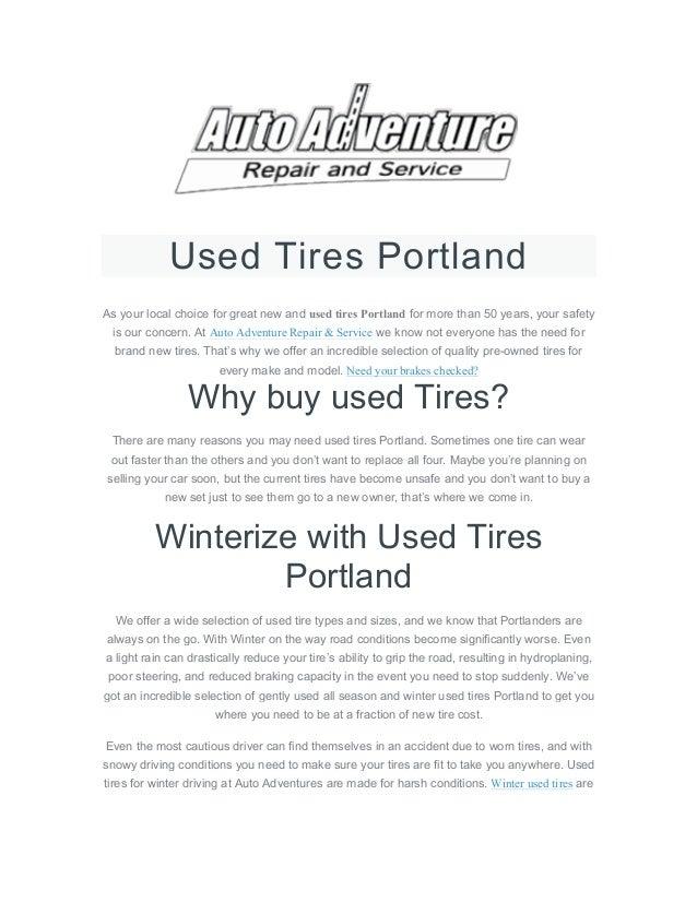 Used Tires Portland >> Used Tires Portland
