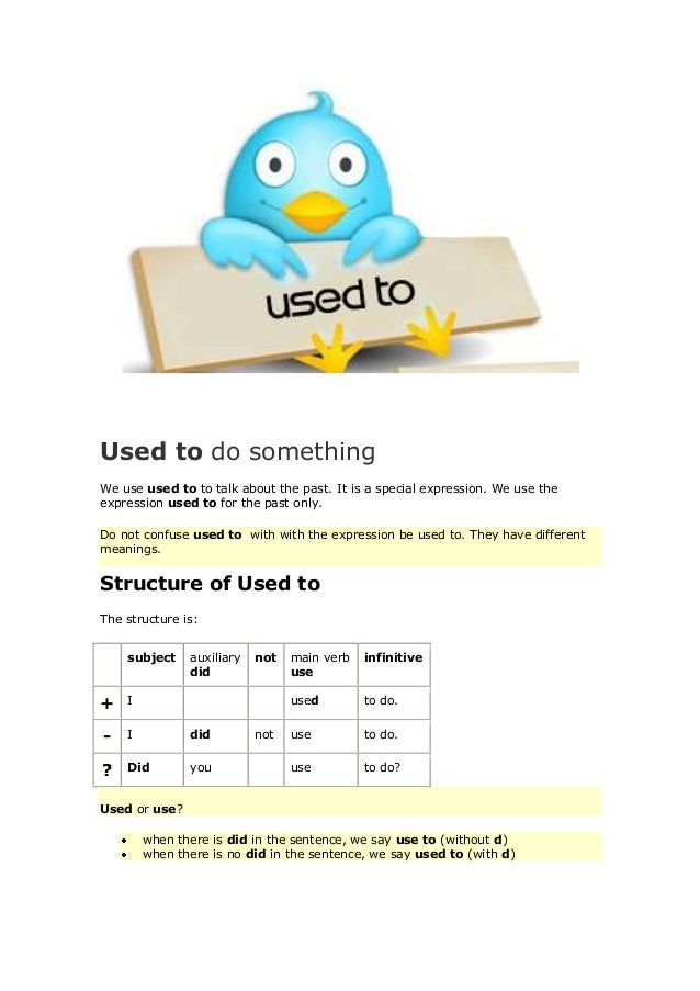 Used To Do/Be Used To Doing
